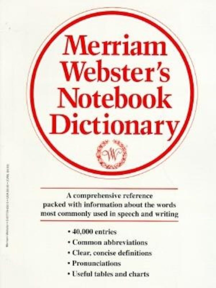 Merriam-Webster's Notebook Dictionary, Paperback