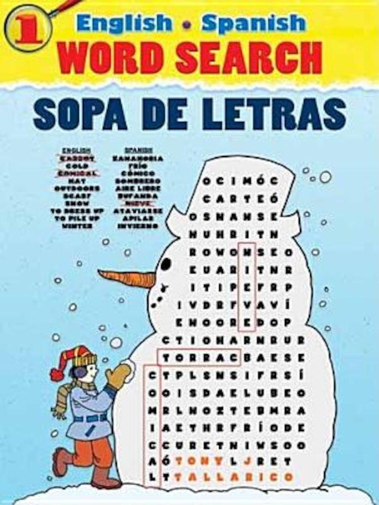 English-Spanish Word Search Sopa de Letras #1, Paperback