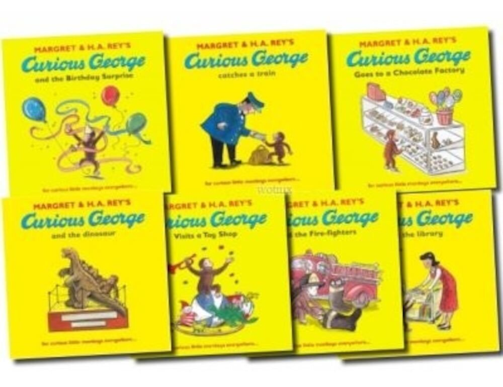 Curious George The Monkey Collection 7 Book Set Pack Series