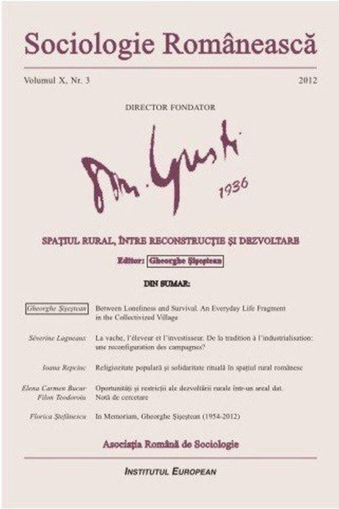 Sociologie Romaneasca. Vol. X, Nr. 3