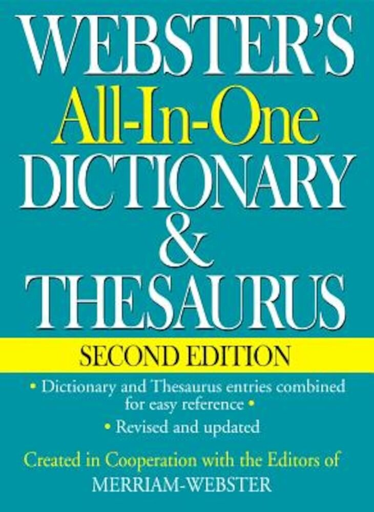 Webster's All-In-One Dictionary & Thesaurus, Second Edition, Hardcover
