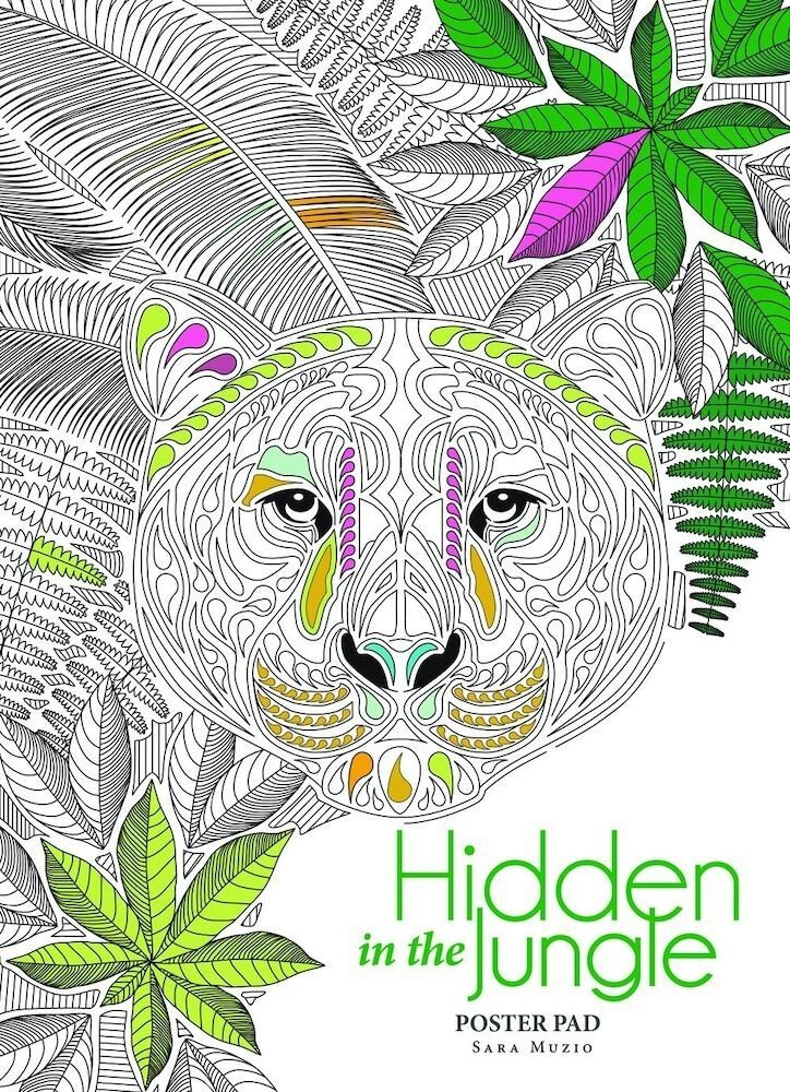 Hidden in the Jungle. Anti-Stress Colouring Book