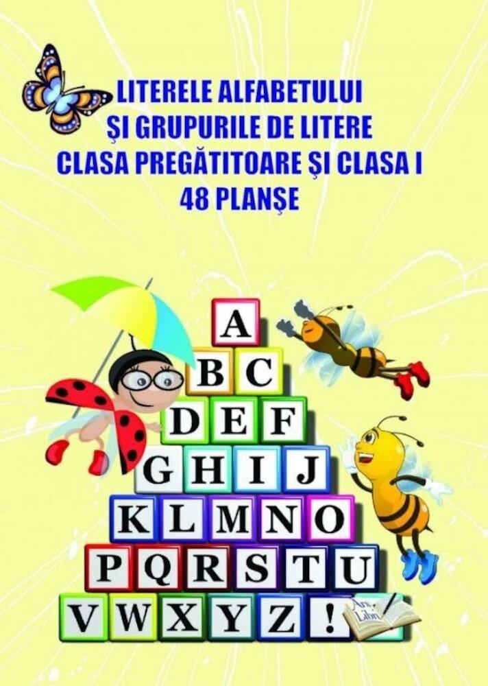 Literele alfabetului si grupurile de litere clasa pregatitoare si clasa I - 48 planse