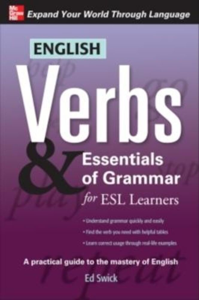 English Verbs & Essentials of Grammar for ESL Learners, Paperback
