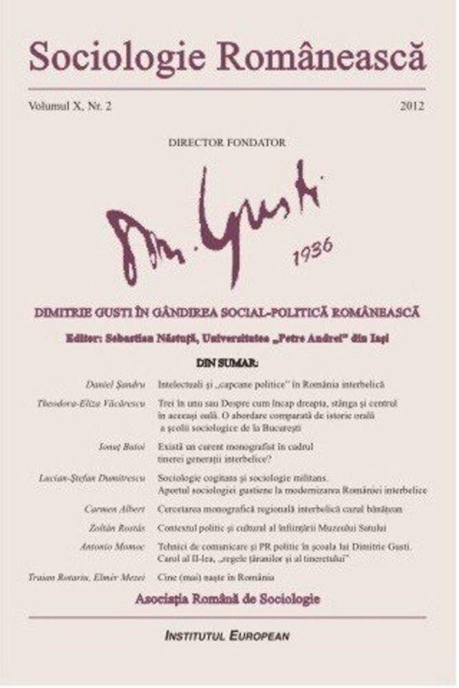 Sociologie Romaneasca. Vol. X, Nr. 2