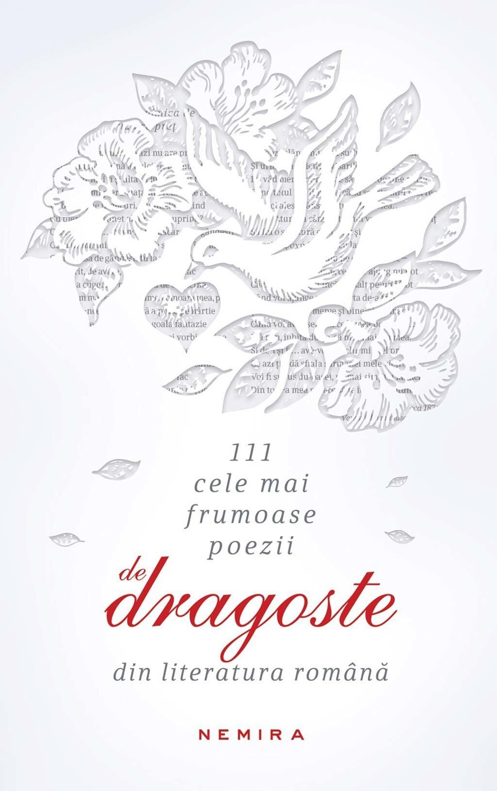 Coperta Carte 111 cele mai frumoase poezii de dragoste din literatura romana