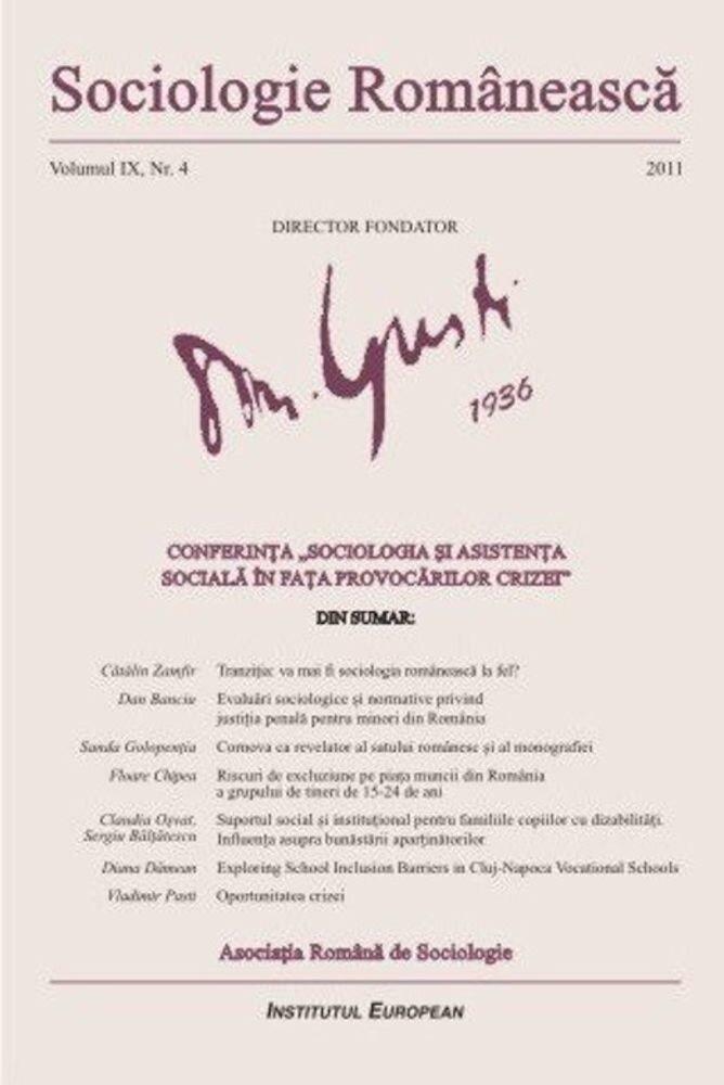 Sociologie Romaneasca. Vol. IX, Nr. 4