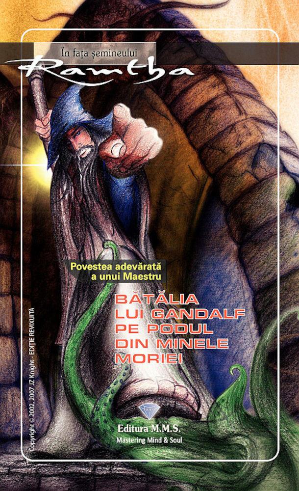 Coperta Carte Batalia lui Gandalf pe pod in minele Moriei
