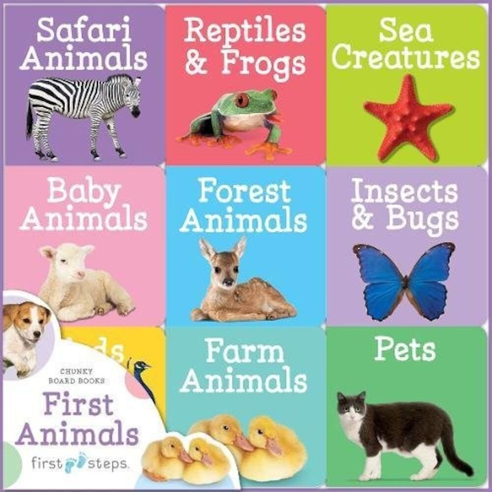 First Steps Chunky Board Books: Animals