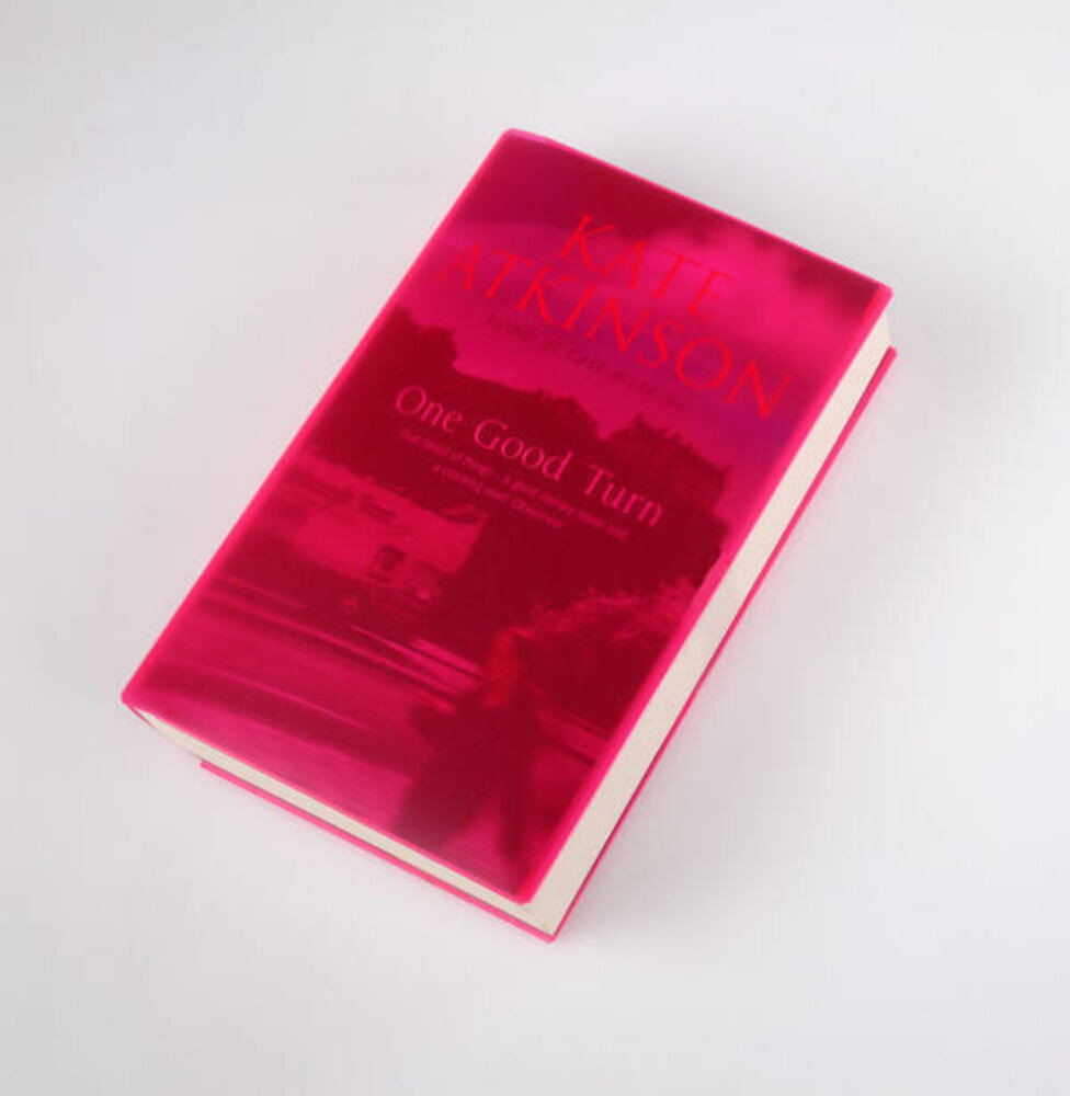 Cover Up Book Cover - Pink transparent