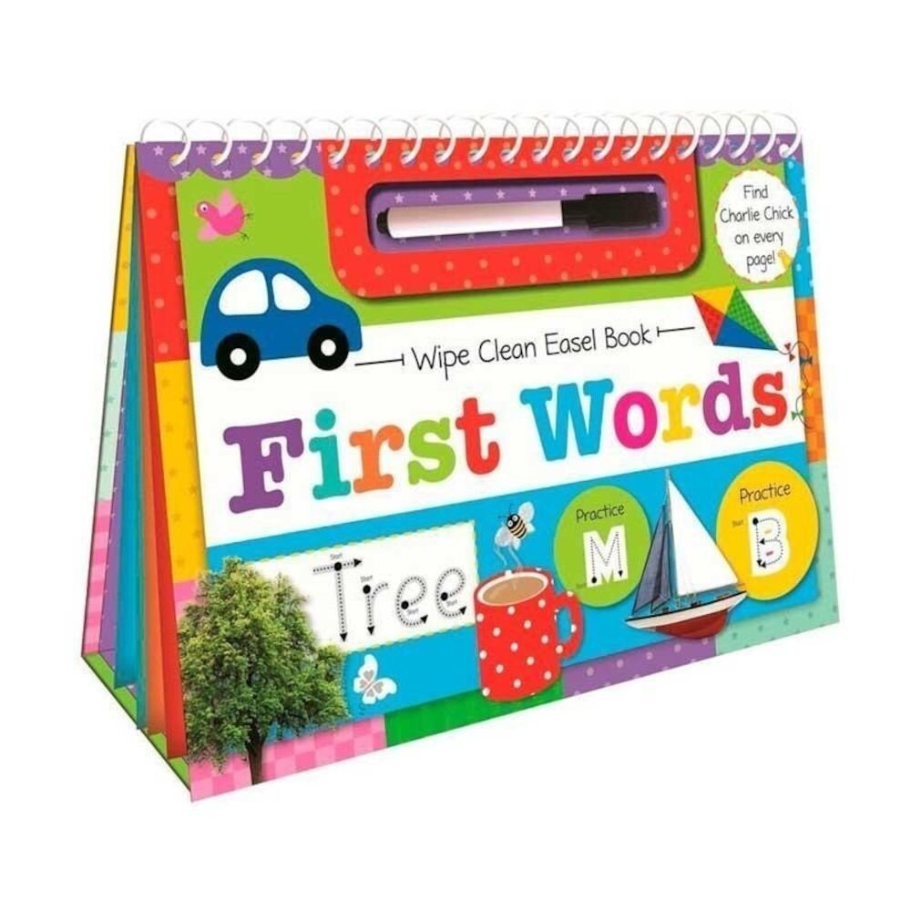 Wipe Clean Easel Book With Pen - First Words