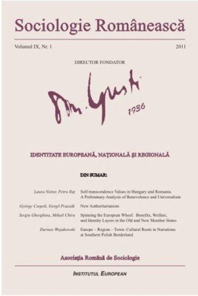 Sociologie Romaneasca. Vol. IX, Nr. 1