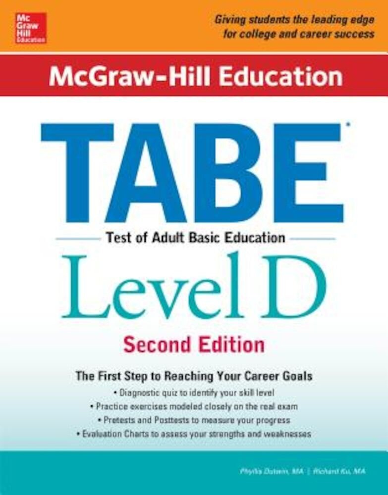 McGraw-Hill Education Tabe Level D, Second Edition, Paperback