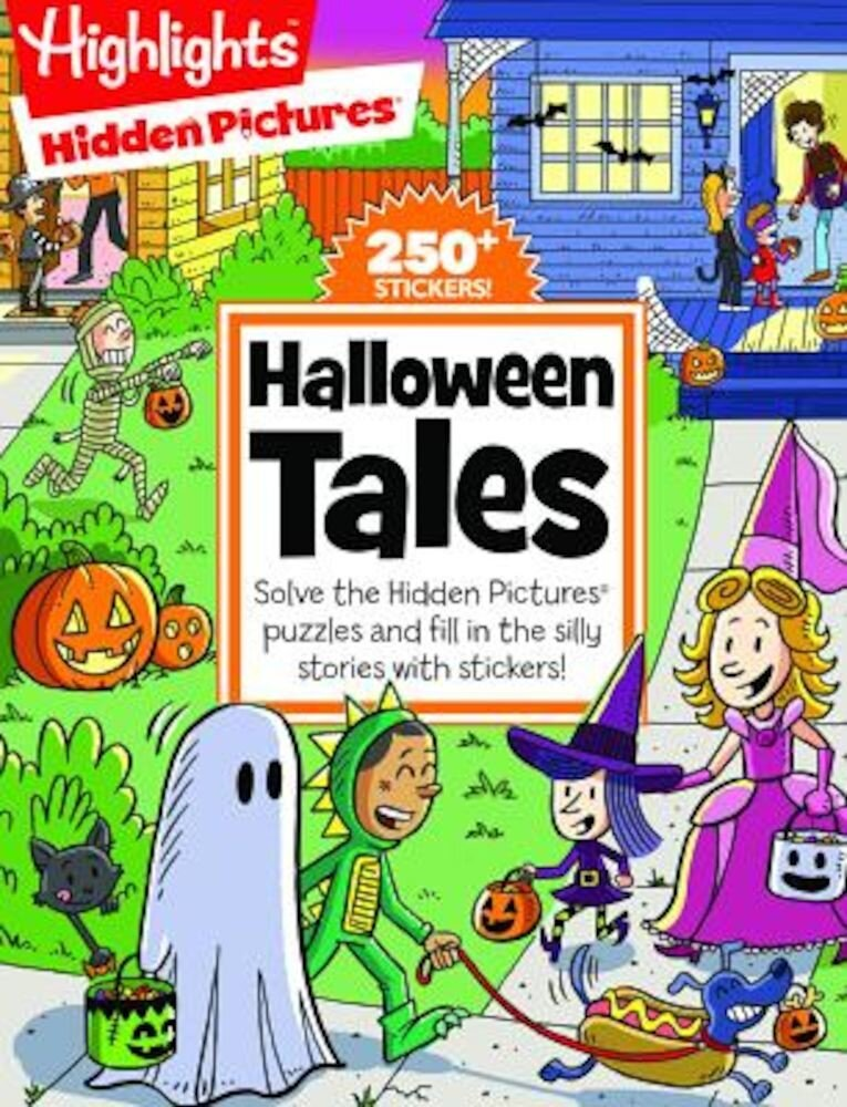 Halloween Tales: Solve the Hidden Pictures(r) Puzzles and Fill in the Silly Stories with Stickers!, Paperback