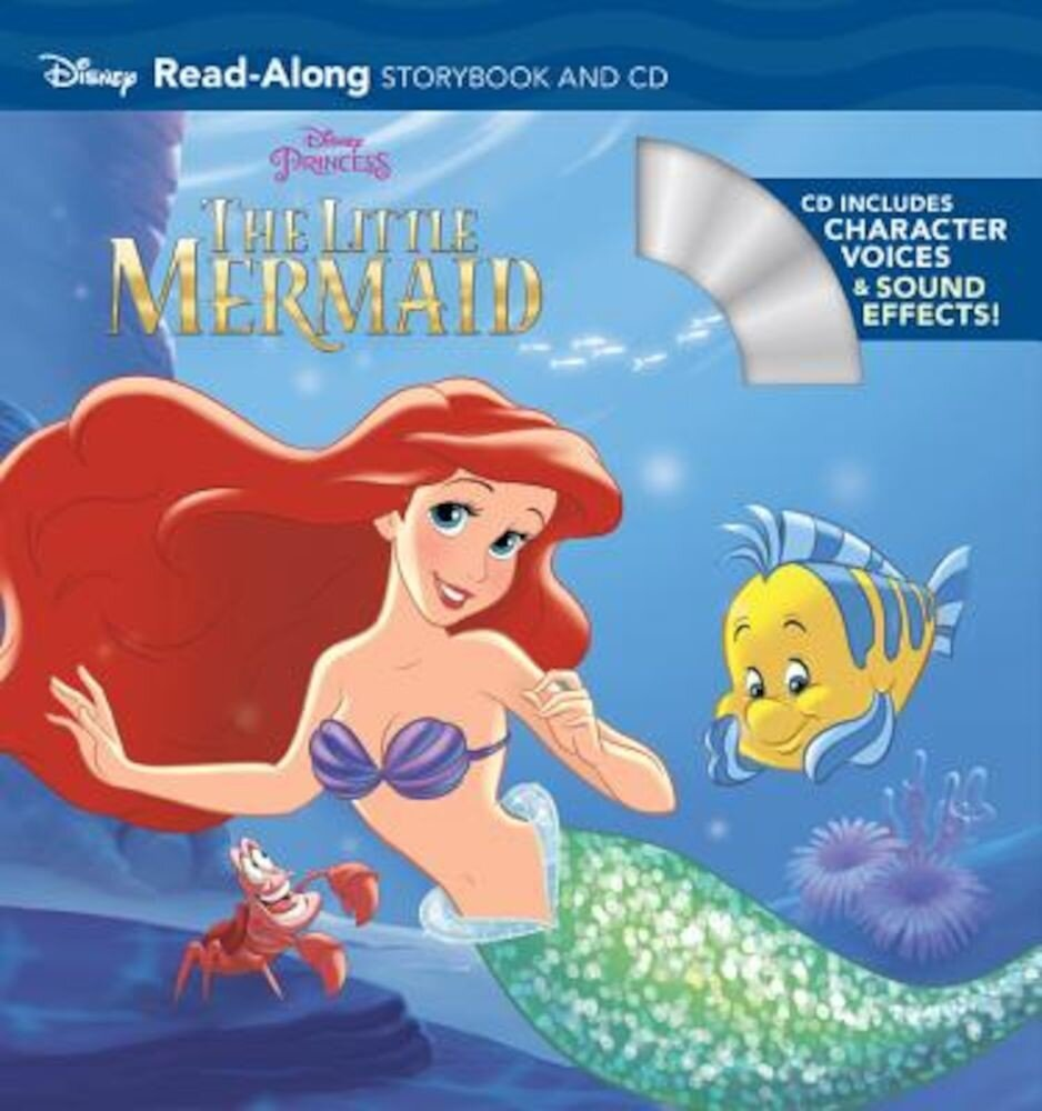 The Little Mermaid Read-Along Storybook and CD, Paperback