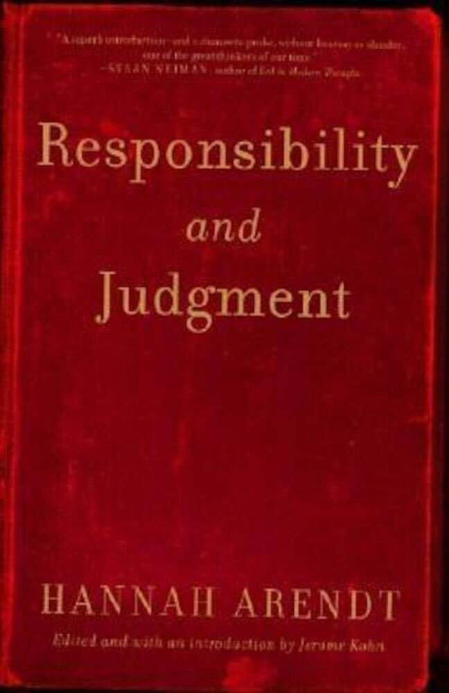 Responsibility and Judgment, Paperback
