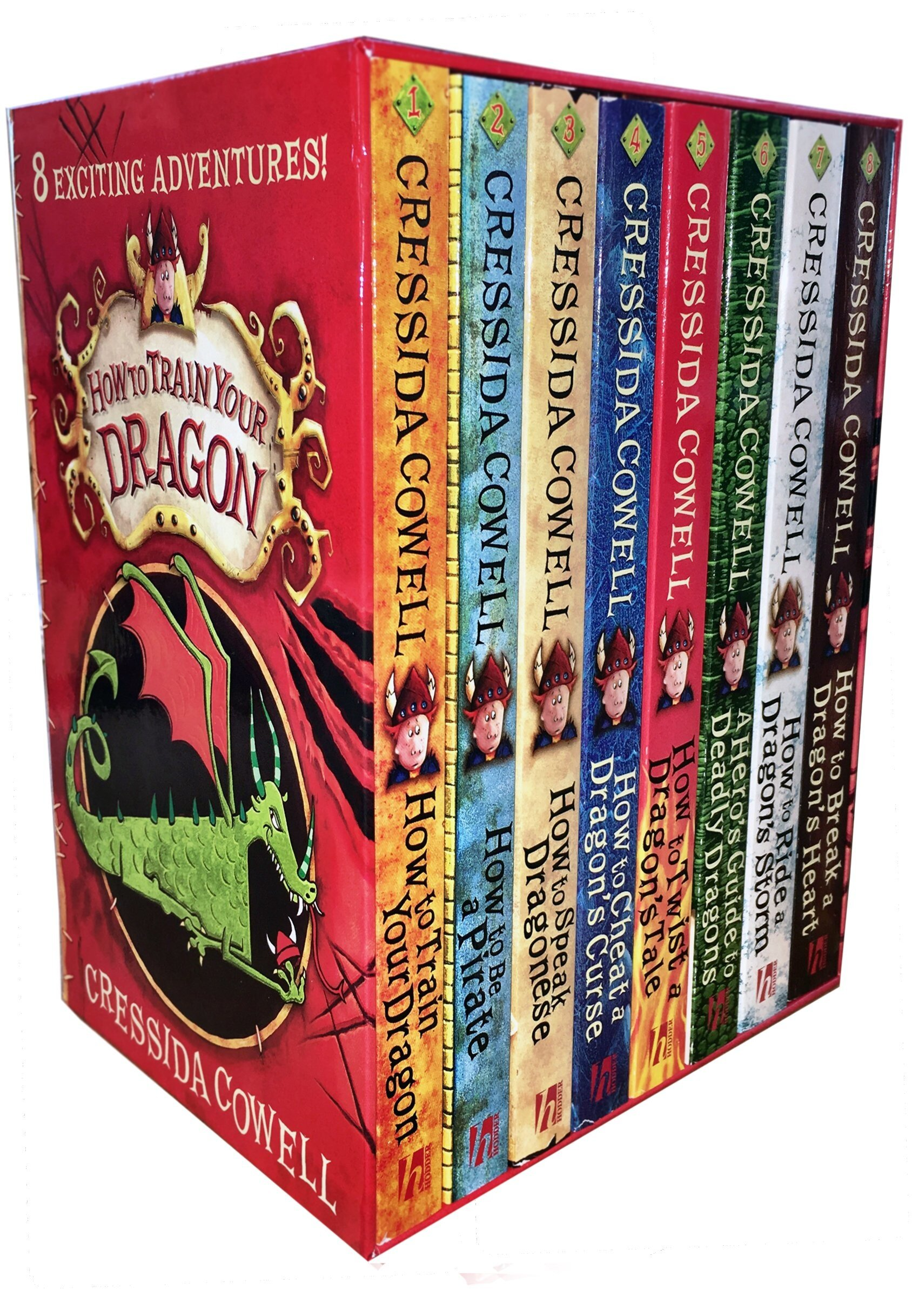 Hiccup How to Train Your Dragon Collection 8 Books Box Gifts Set Cressida Cowell