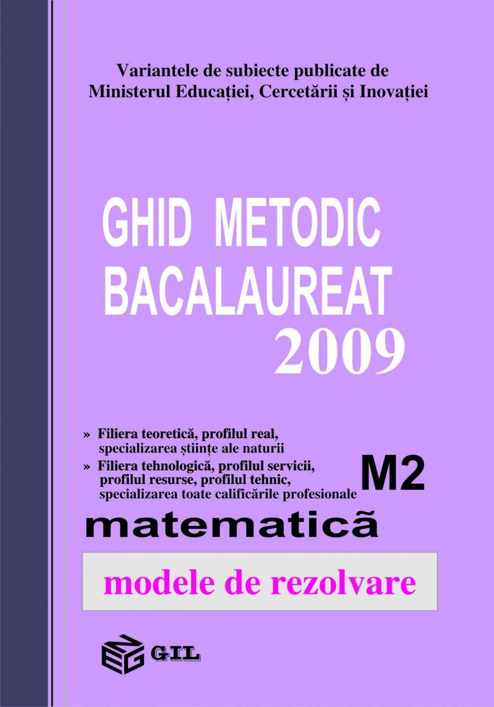 Bacalaureat 2009 M2-100 variante (eBook)