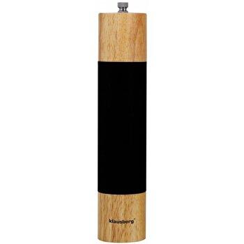 Rasnita pentru piper, Klausberg, lemn, mecanism ceramica, KB-7025, Negru/Maro elefant