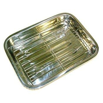 Tava din inox pentru lasagna, KingHoff, 36 cm, KH-4362, Gri imagine