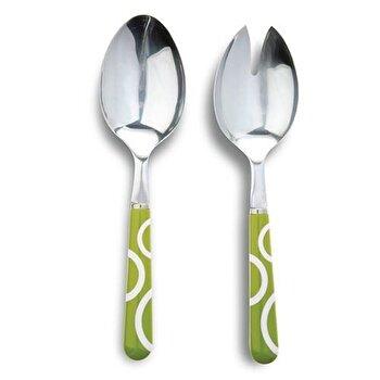 Set de tacamuri pentru salata, Nava, 2 piese, 10-060-043, Verde