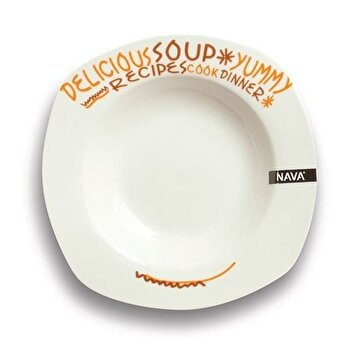 Farfurie pentru supa, Nava, portelan, 23 cm, seria Funky, 10-05-002-004, Alb