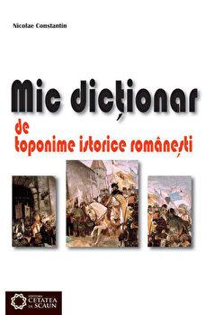 Mic dictionar de toponime istorice romanesti/Nicolae Constantin
