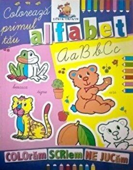 Coloreaza primul tau alfabet. Carte de colorat/*** imagine