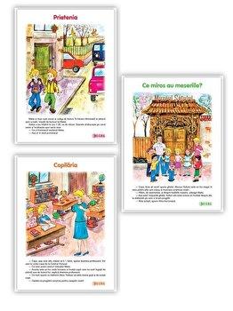 Set 3 carti uriase pentru clasa I - semestrul al II-lea ( Prietenia, Ce miros au meseriile, Copilaria )/***