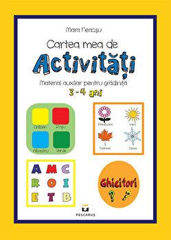 Carte mea de activitati. Material auxiliar pentru gradinita. 3-4 ani/***