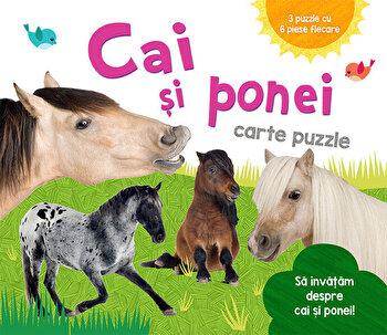 Cai si Ponei - Carte puzzle/***