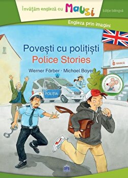 Coperta Carte Povesti cu politisti - editie bilingva, contine un joc domino pentru copii