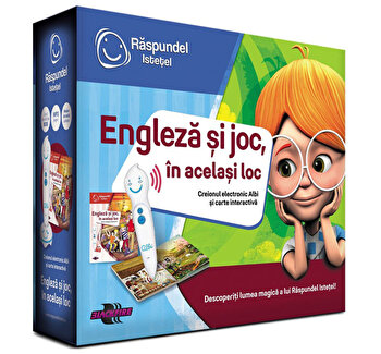 Pachet carte si creion - Engleza si joc, in acelasi loc
