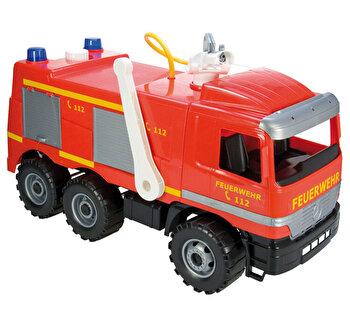 Camion de pompieri Lena Gigant cu pompa apa functionala, 64 cm , sustine 100 kg