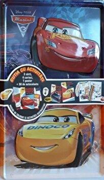 DISNEY. MASINI 3. Cutia cu activitati (3 carti,4 carioci,1 poster,50 de autocolante)/Disney imagine