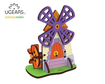 Puzzle 3D de colorat - Moara, 23 piese