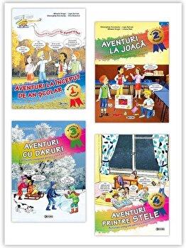 Aventura invatarii - (Aventuri la Inceput de an scolar, Aventuri la joaca, Aventuri cu daruri, Aventuri printre stele)/*** poza cate