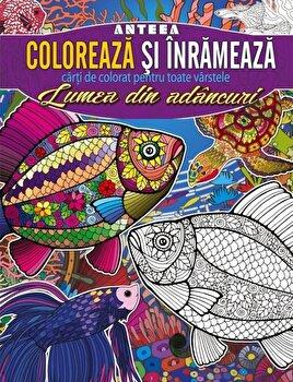 Coloreaza si inrameaza! Lumea din adancuri - carti de colorat pentru toate varstele/*** imagine elefant 2021