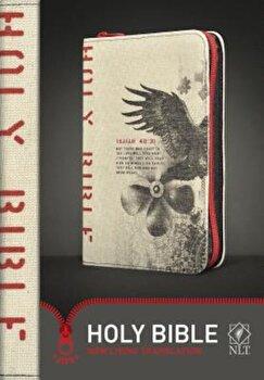 Compact Bible-NLT-Zipper Closure, Hardcover/Tyndale imagine