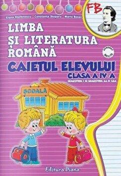 Caietul elevului (sem. I + sem. II) - Romana clasa a IV-a/Constanta Stuparu, Elena Stefanescu poza cate