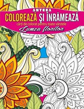 Coloreaza si inrameaza! Lumea florilor - carti de colorat pentru toate varstele/*** imagine elefant 2021