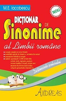 Dictionar de sinonime al limbii romane/M.E. Iacobescu imagine elefant.ro