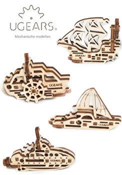 Puzzle-uri 3D - U-Fidget Vapoare, 4 modele