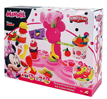 Set Masina de inghetata cu plastilina - Minnie Mouse