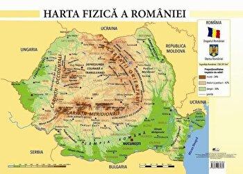 Harta fizica a Romaniei - plansa a4/Celina Iordache poza