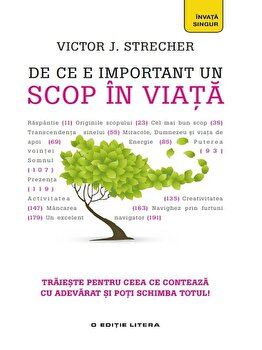 De ce e important un scop in viata/Victor J. Strecher imagine elefant.ro 2021-2022