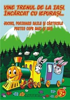 Vine trenul de la Iasi incarcat cu iepurasi. Jocuri, poezioare hazlii si cantecele pentru copii mari si mici/Lucia Cocisiu imagine elefant 2021