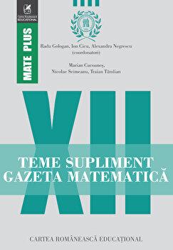 Coperta Carte Teme supliment gazeta matematica clasa a XII-a
