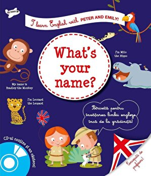 Coperta Carte I learn english what's your name'
