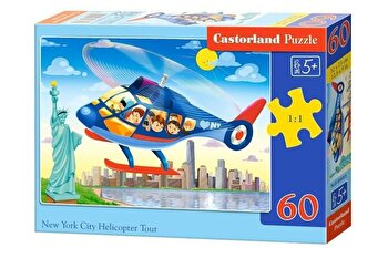 Puzzle Turul New York-ului cu elicopterul, 60 piese